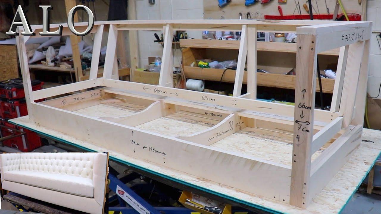 HOW TO BUILD A SOFA FRAME | DIY - ALO Upholstery - YouTube