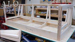 HOW TO BUILD A SOFA FRAME | DIY  ALO Upholstery