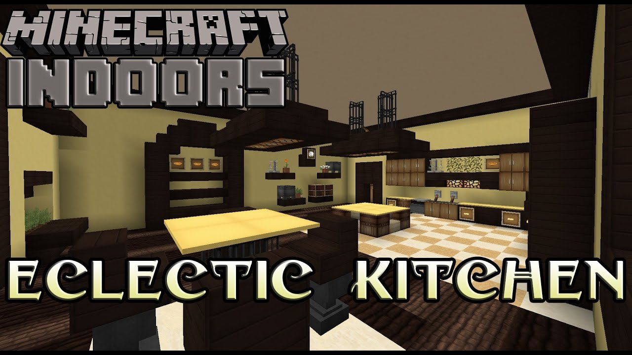 Eclectic Kitchen In Yellow   Minecraft Indoors Interior Design   YouTube Part 71