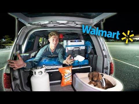 OVERNIGHT CAMP AND COOK in WALMART Parking Lot (Will It Work?)