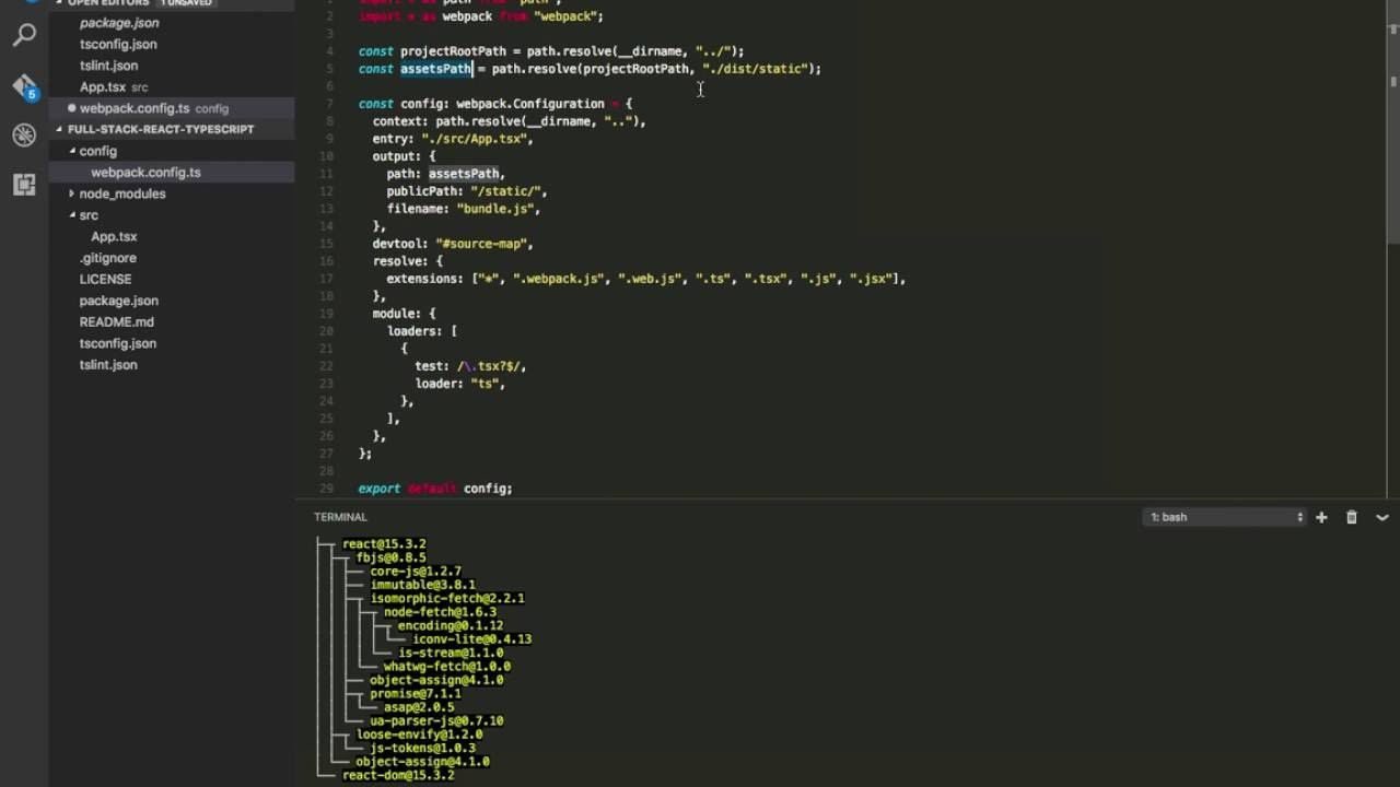 Tutorial: Full-Stack React TypeScript - Part 1 - YouTube