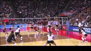 Texas vs Wisconsin NCAA Volleyball 2013 [Set 4]