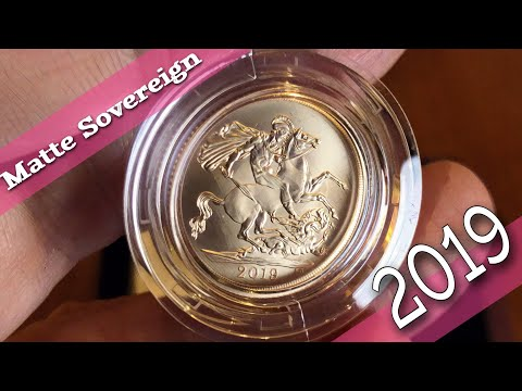 The 2019 Matte BU Gold Sovereign from the Royal Mint