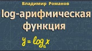 ЛОГАРИФМИЧЕСКАЯ ФУНКЦИЯ ее свойства и ГРАФИК алгебра