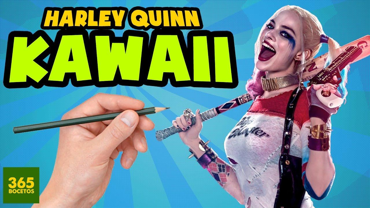 Harley Quinn Kawaii Para Colorear: COMO DIBUJAR A HARLEY QUINN ESTILO KAWAII