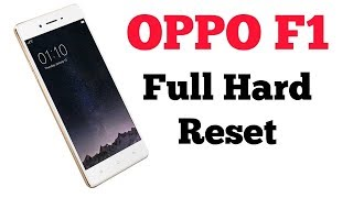 Oppo F1s Hard Reset unlock pettern A1601 remove password