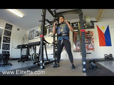 Rogue fitness monster rack review doovi for Homemade safety squat bar
