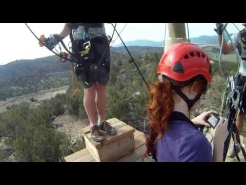 Royal Gorge Extreme Zip Line with 2 GoPro cameras, July 7, 2013