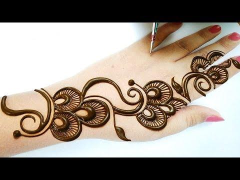 अरेबिक मेहँदी डिज़ाइन लगाना सीखे - Stylish Mehndi Design Tricks - New Shaded Mehndi Designs