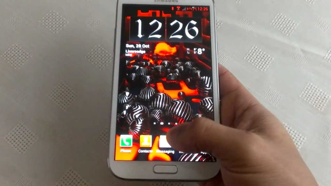 Samsung Galaxy Note 2 BLOOD RED THEME MUST SEE!!