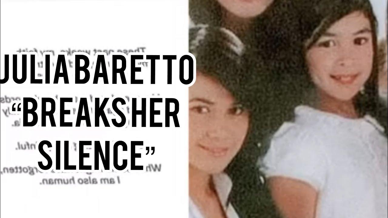 Julia Baretto breaks her silence