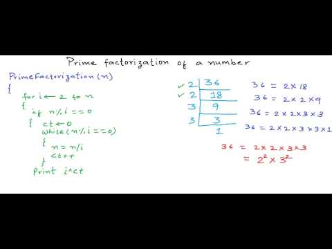 Prime Factorization Of A Number