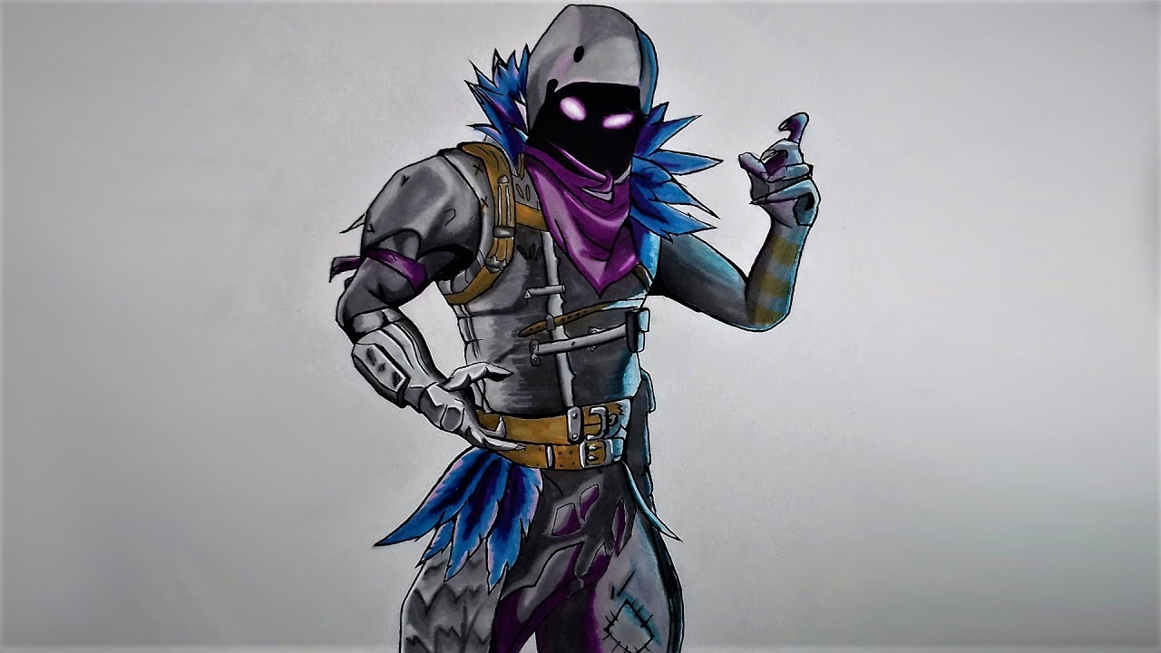 Drawing Raven From Fortnite Pekart Youtube