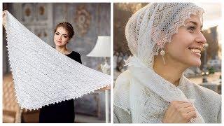 Настоящие пуховые платки, шали и палантины обзор / Косынку из шерсти купить в интернет магазине