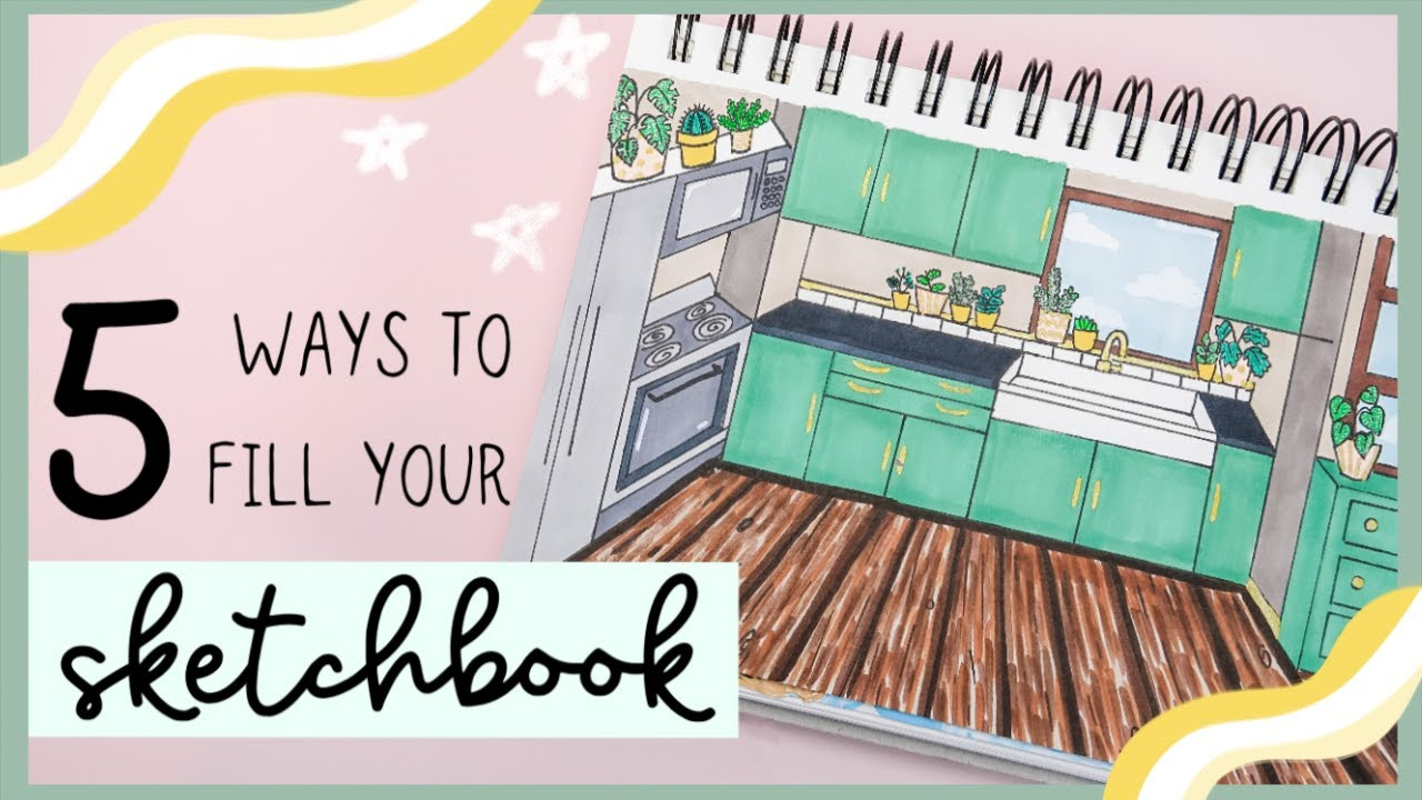 5 Ways to Fill Your Sketchbook - Food Edition! Easy Drawing Ideas for Beginners