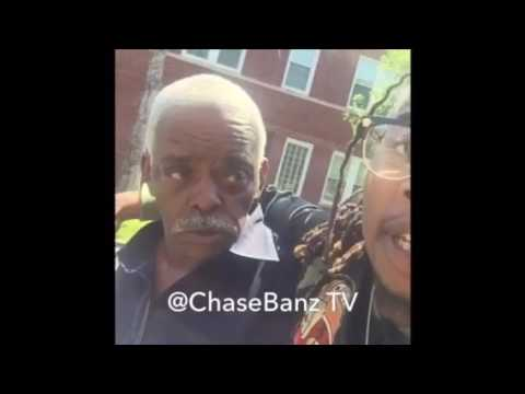 Chicago Rapper mikey dollaz Fights A Old Ass Man