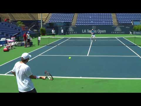 07 26 09 Mardy Fish Practice With Jessie Levine 002