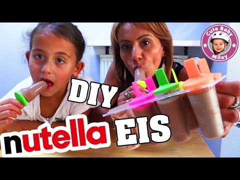NUTELLA EIS SELBER MACHEN | BESTES EIS am Stiel | DIY Nutella Milk Popsicles | CuteBabyMiley