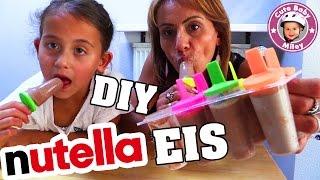 NUTELLA EIS SELBER MACHEN | BESTES EIS am Stiel | DIY Nutella Milk Popsicles | CuteBabyMiley