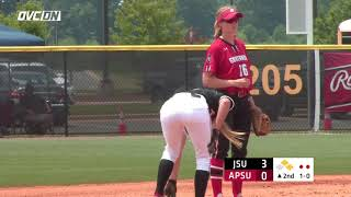 2018 OVC Softball Tournament Highlights - #3 Jacksonville State 3, #2 Austin Peay 0 - May 10, 2018