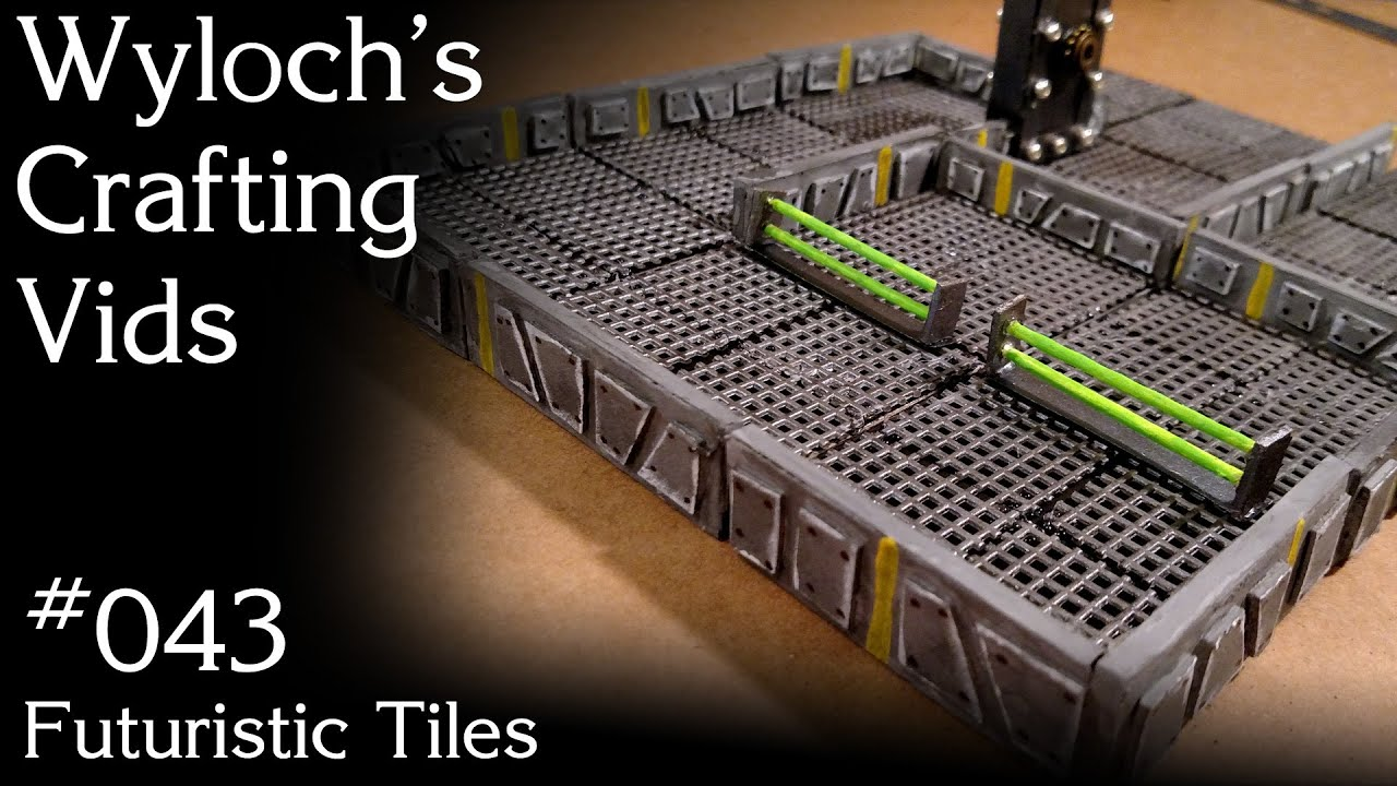 How to Make Futuristic Tiles for Space Hulk, Starfinder Terrain (WCV 043)