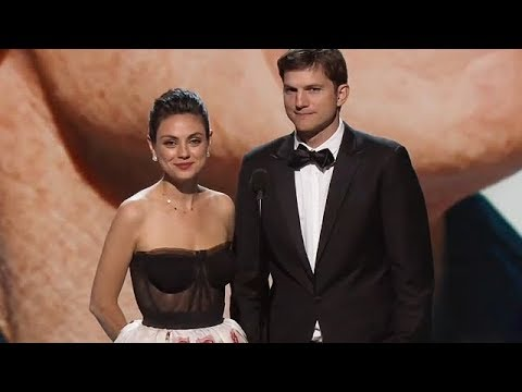 Breakthrough Prize Ceremony: Mila Kunis and Ashton Kutcher Presenting An Award