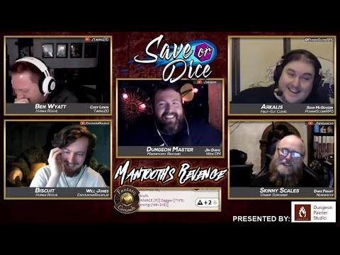 Save or Dice: One Shot Special! Mantooth's Revenge!! Dungeons and Dragons Liveplay