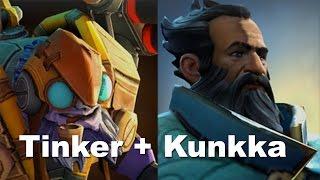 Kunkka + Tinker - X Marks The Spot Combo Dota 2