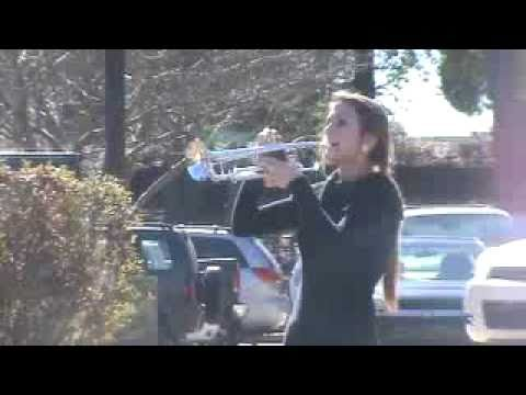 TAPS played by pretty girl trumpet player - YouTube