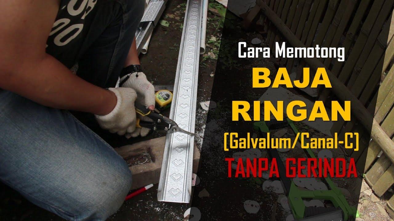 jual gunting baja ringan cara mudah memotong galvalum canal c tanpa gerinda