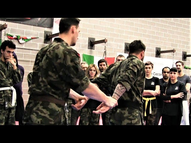 KRAV MAGA TRAINING • How to get rid of a BULLY that blocks your hands (part 2)