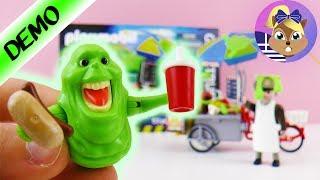 Σετ παιχνιδιού Playmobil: Ghostbusters-Φάντασμα και καρότσι για χοτ-ντογκ👻