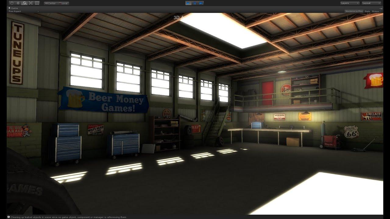 Unity 3D Vintage Garage Space