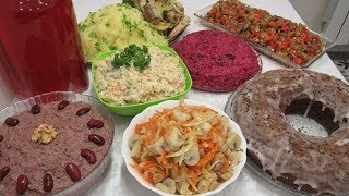 Готовлю 9 Постных Блюд НА ПРАЗДНИК День Рождения или Новый год