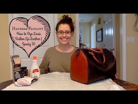 49b424671d Handbag Facelift | How to Dye Louis Vuitton Epi Leather | Speedy 30 -  YouTube