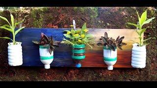 DIY- Plastic Bottles Vertical Garden