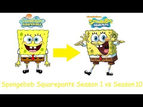 SpongeBob Squarepants Characters Season 1 vs Season 10