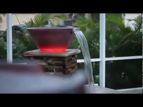 Pool Water Bowl And Fire Bowl Cliffs Pools Amp Patios