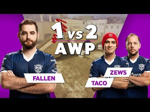 MiBR FalleN vs TACO and Zews | CSGO AWP 1vs2