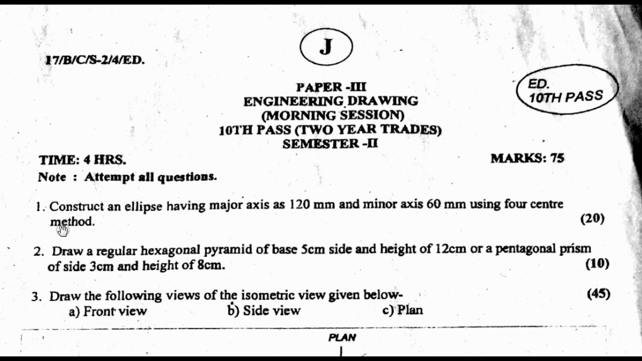 Drawing Question Paper