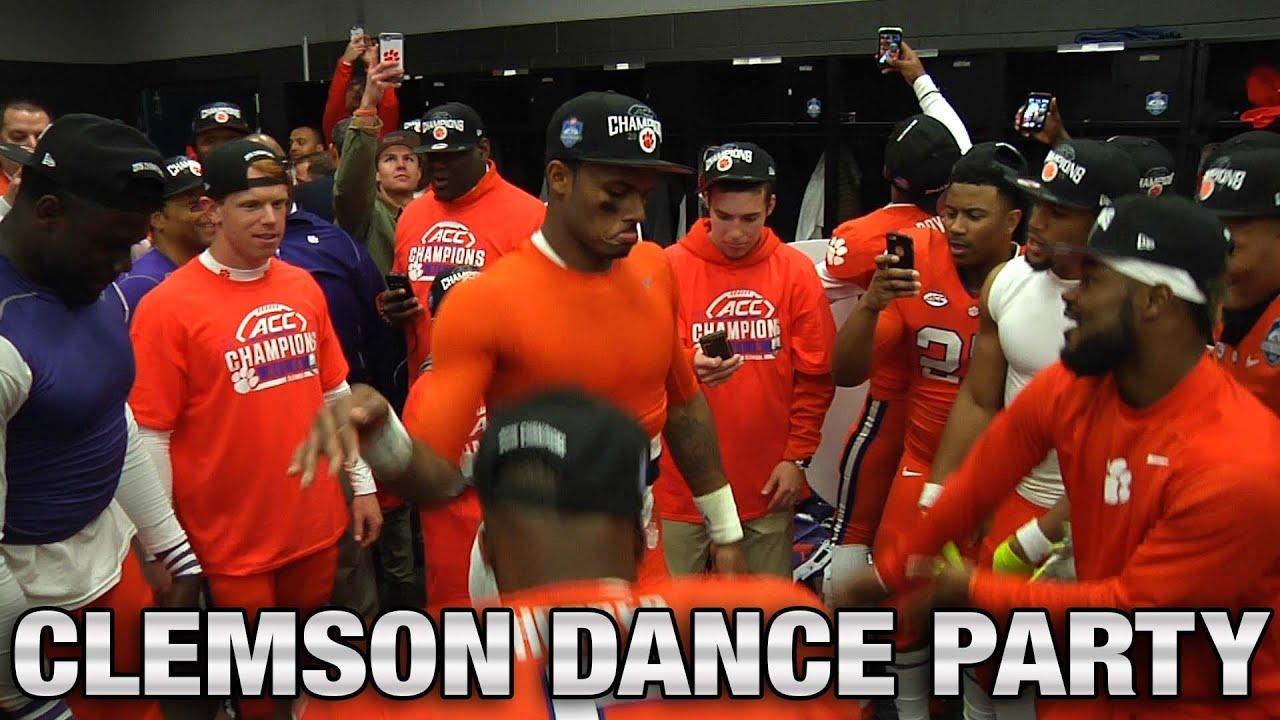 Clemson Football Deshaun Watson Teammates Locker Room Dance Party