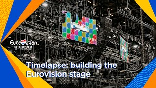 Timelapse: the construction of the Eurovision stage in Rotterdam Ahoy | Eurovision 2021