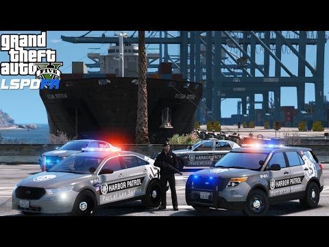 GTA 5 LSPDFR Police Mod 373 | Los Santos Port Authority Harbor Patrol Division | Officer Down
