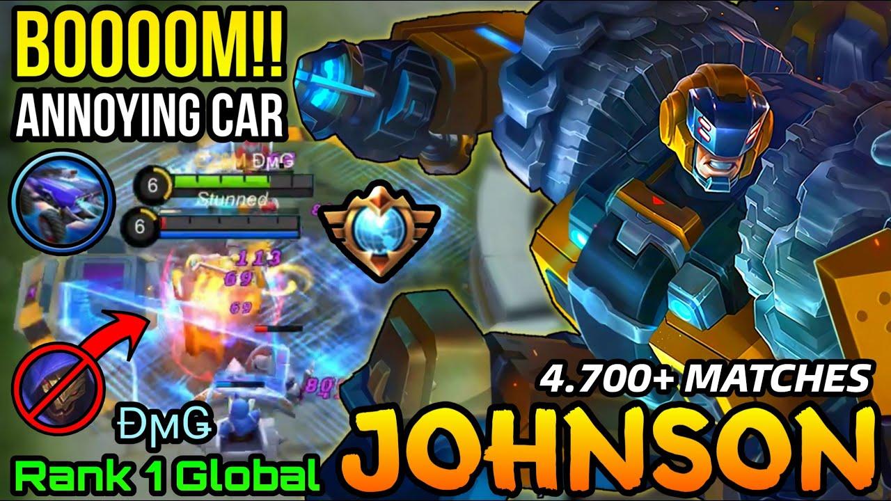 Wreck King Johnson Amazing Driving Rotation - Top 1 Global Johnson by ĐϻǤ - MLBB