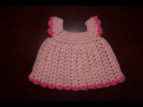 Rewelacyjny sukienka na szydełku dla niemowlaka 0-3 miesięcy lub lalki - YouTube NH43