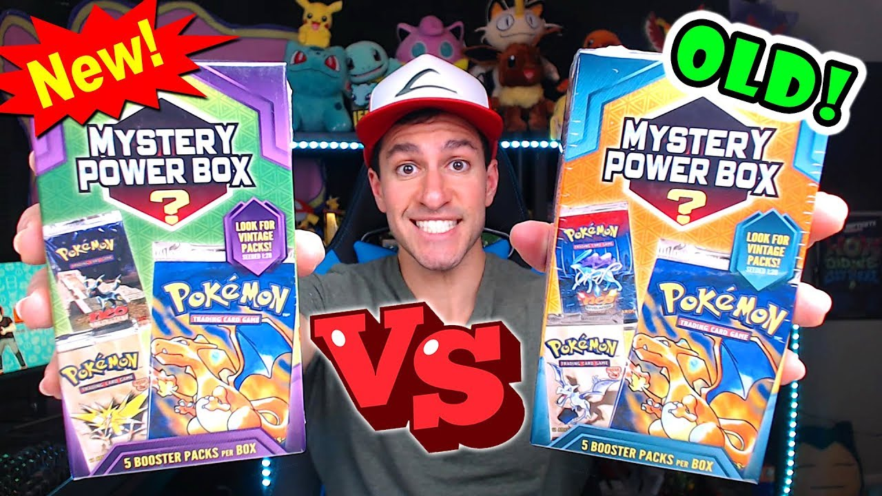 7f7297f53b NEW VS OLD POKEMON MYSTERY BOXES FROM WALMART! (Opening BOTH!) - YouTube