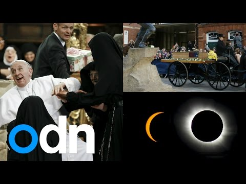 Top 3 videos: Solar Eclipse, King Richard III's remains and Pope mobbed by nuns