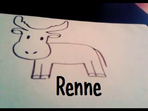 Dessiner un renne youtube - Dessiner un renne ...