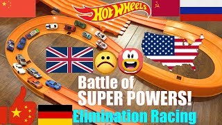 Hot Wheels Racing Elimination Tournament, Battle of Super Power Countries! Marble Racing Race #55