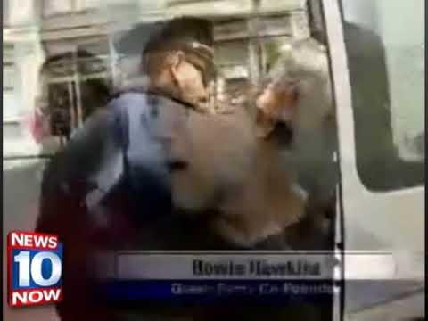 Green activst Howie Hawkins arrested at health care reform protest